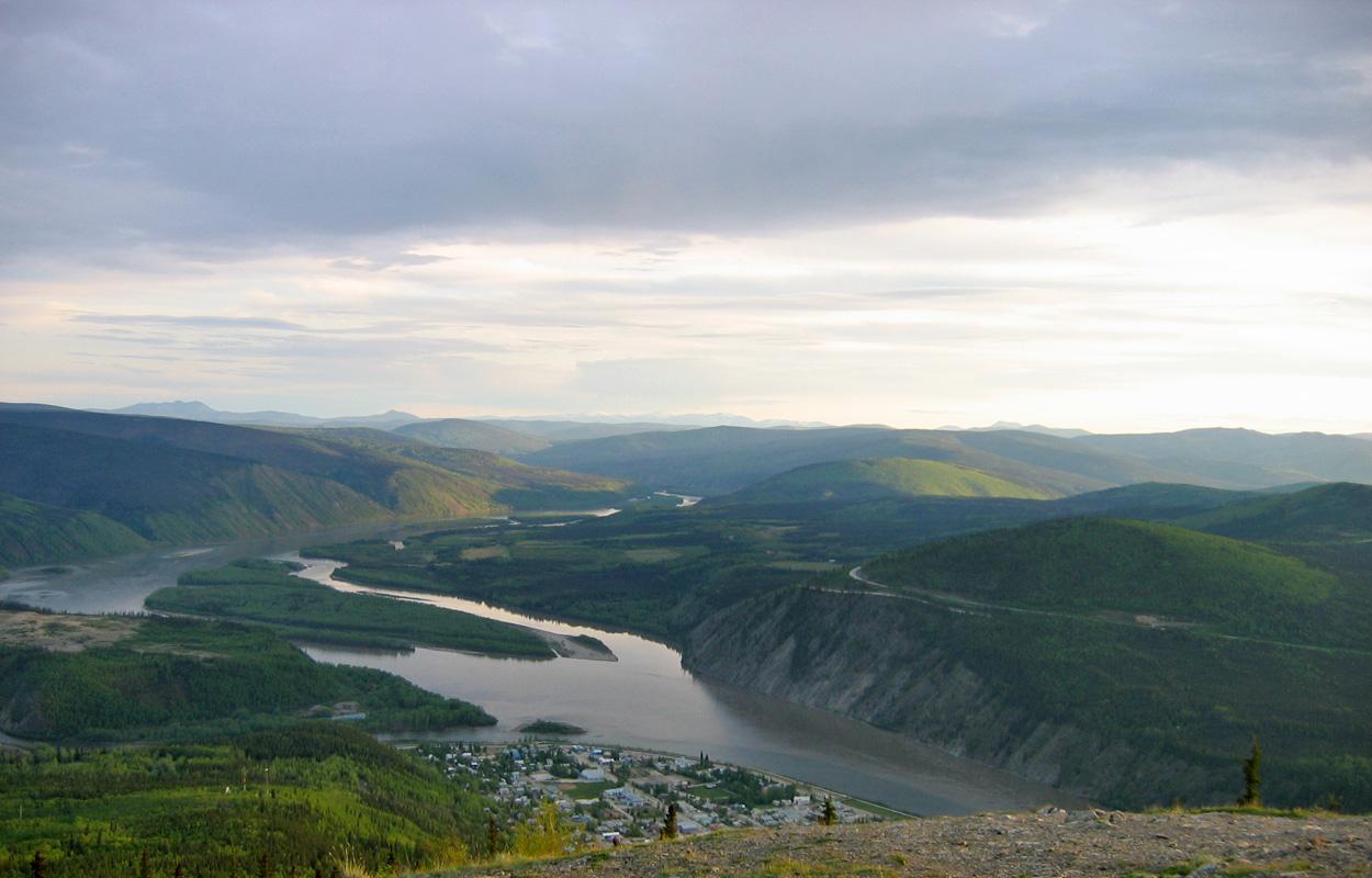 Looking across the Yukon River towards Sunnydale
