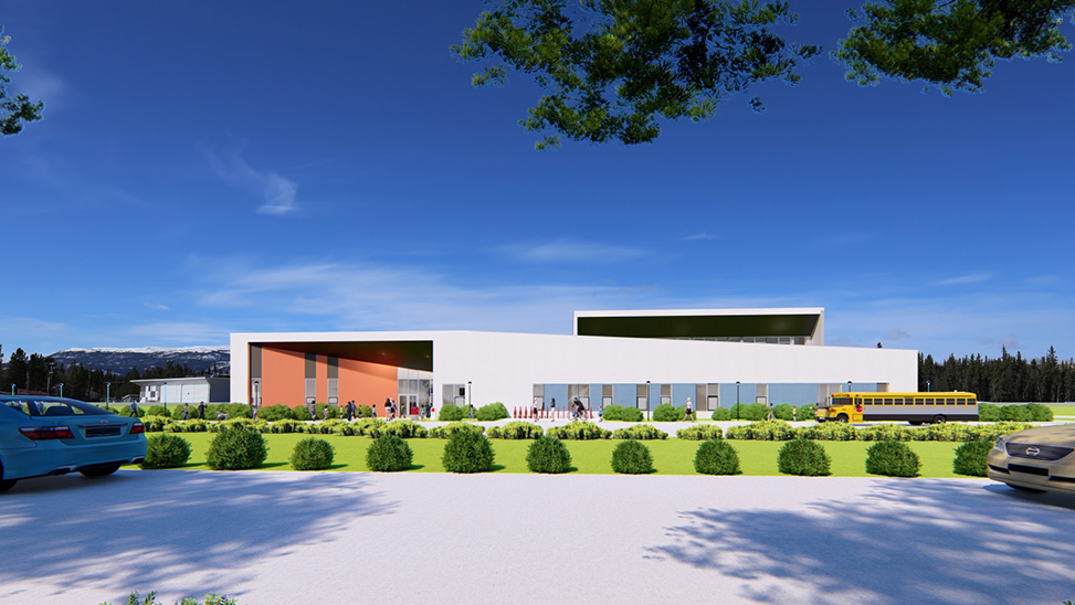 Rendering of the new French first language secondary school