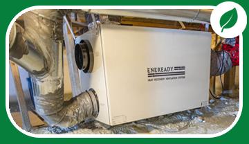 Ventilateur récupérateur de chaleur muni de conduits dans un vide sanitaire