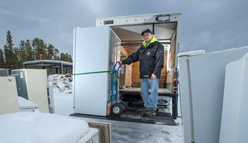 Récupération d'un vieux réfrigérateur énergivore