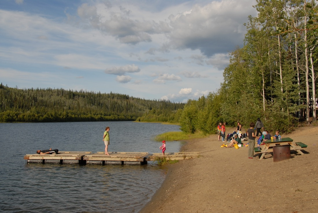 Beach at Five Mile Lake Campground