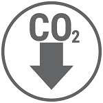 Reducing greenhouse gas emissions icon