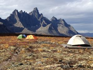 Talus Lake campground and Tombstone Mountain, Tombstone Territorial Park