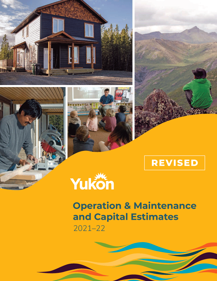 Cover image of the Government of Yukon's 2021–22 Budget (revised)
