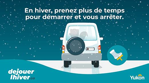 En hiver, prenez plus de temps pour démarrer et vous arrêter.