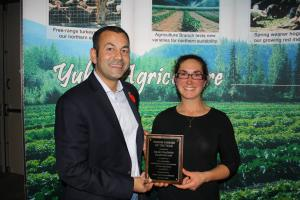 Sarah Ouellette is Yukon's 2019 Farmer of the Year