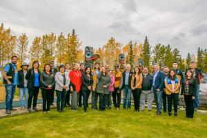 The leaders met at the Teslin Tlingit Heritage Centre in Teslin for the third Yukon Forum of 2019
