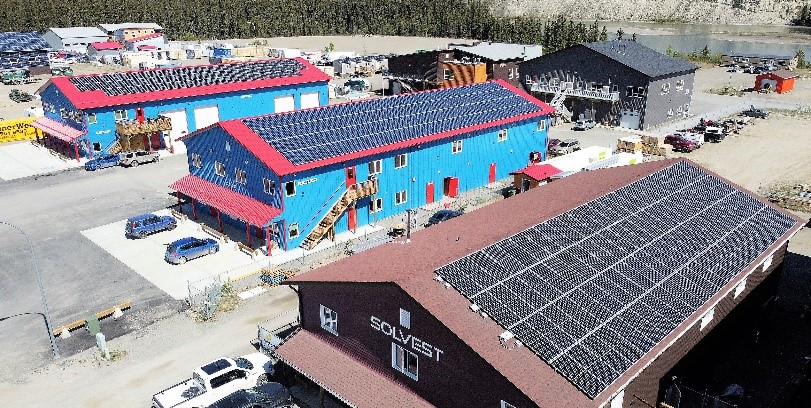 Solvest Inc. successfully installed solar energy generating systems to many buildings throughout Yukon.