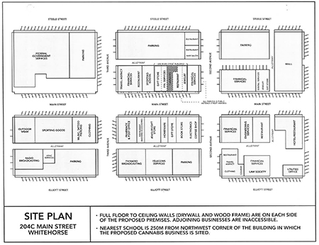 Site plan for Ninetails Cannabis licence application