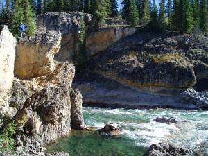 Rapids and canyon at Lapie River Campground