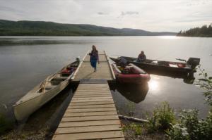 Dock at Nunatuk Campground, Yukon.