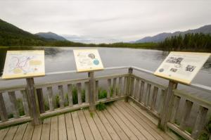 Interpretive viewing deck at Pickhandle Lake, Yukon