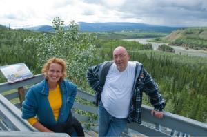 Interpretive staircase to the historic Five Finger Rapids, Yukon.