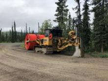 A plow-cat is on site and ready for work. Credit: Government of Yukon