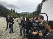 Film crew on set of River of Life: Yukon