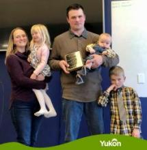Mario Ley and Dionne Laybourne of Can Do Farm are Yukon's Farm Family of the Year for 2020.