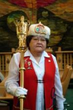 Doris McLean in her capacity as Sergeant-at-Arms in the Yukon Legislative Assembly, 2005.