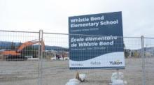Construction de la nouvelle école élémentaire de Whistle Bend.