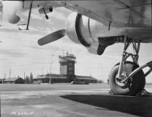 Watson Lake Air Terminal Building, August 1951.  LAC, Canada. Dept. of National Defence Collection, PA-067427