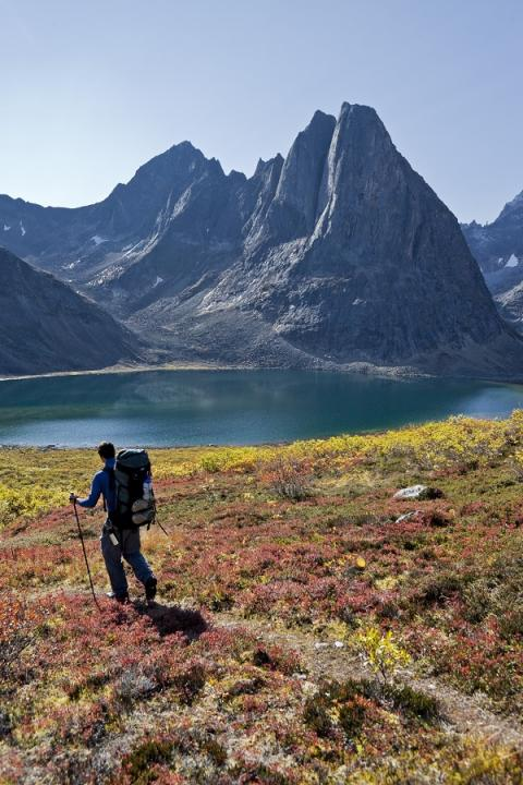 Hiking in Tombstone Territorial Park.