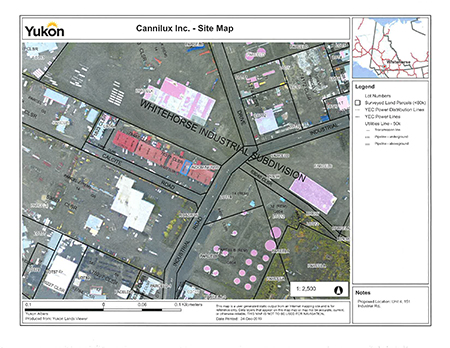 Site plan for Cannilux, item #19-12