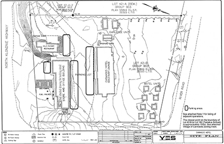 site plan for Carmacks Hotel, item #19-03