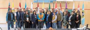 Attendees at the Yukon Forum today in Carmacks
